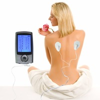 Tens Powered Muscle Stimulator Digital Massage 10 Modes Dual Channels 10Pcs Pack Mini LCD Massager Electric