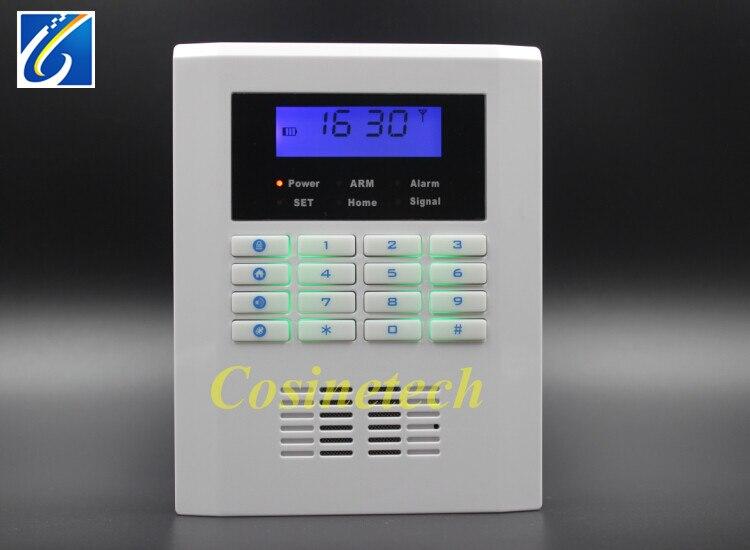 Inteligente sistema de alarme de segurança PSTN + GSM dual rede sem fio, kit 3 PIR detector + 5 sensor de porta, sistema de alarme Home - 2