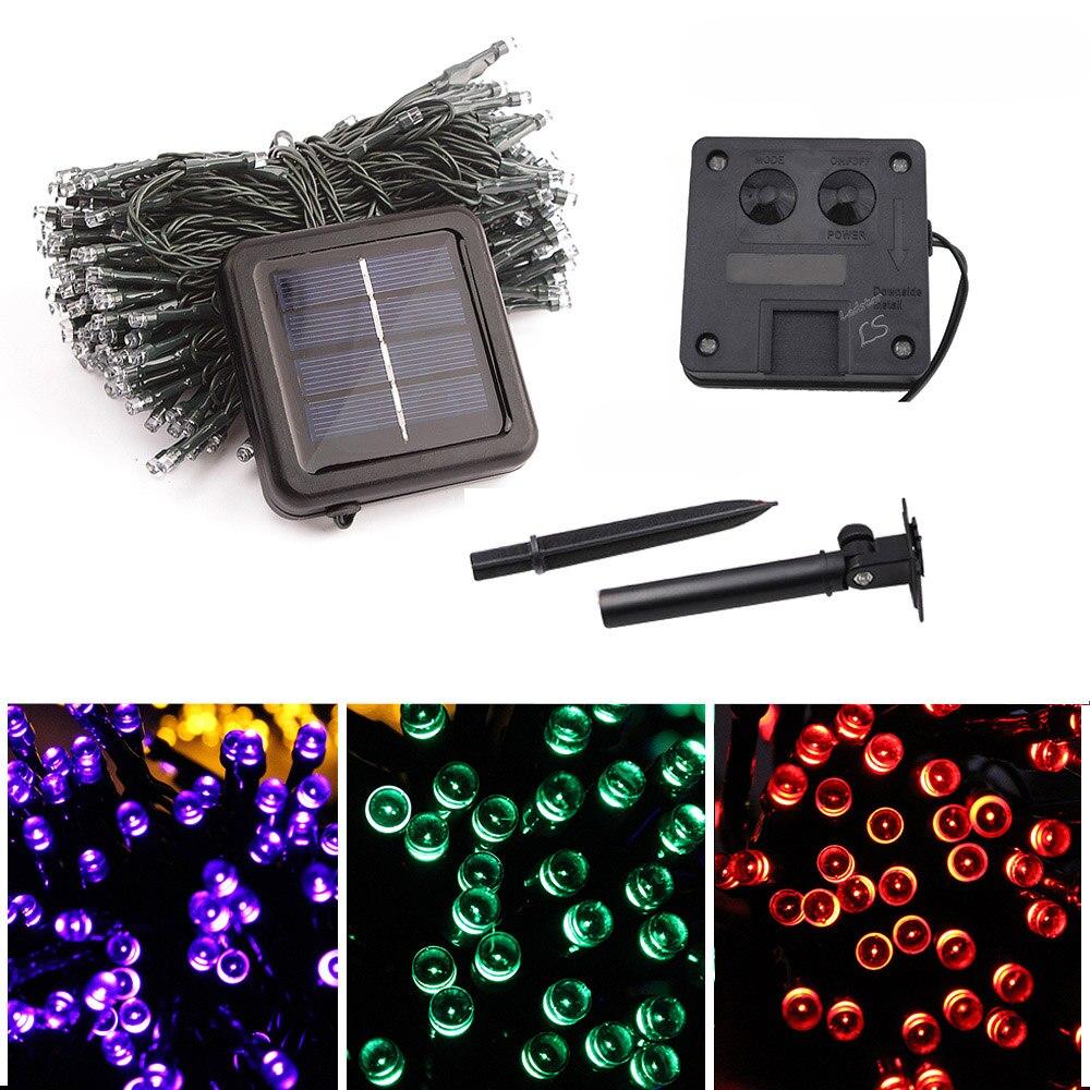 12M String Lights Garlands LED Solar Power Fairy Light Outdoor Waterproof Lichterkette Home Garden Lawn Patio Lights Chain Lamps