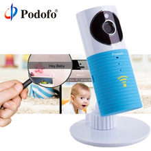 Podofo 720P HD mini wireless wifi baby monitor , ip camera Infant Baby clever dog video Security Two-way TOPS Audio Night Vision(China)
