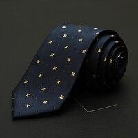 2017 Novos Homens de Moda Gravata para Designer de Marca de Alta Qualidade Azul marinho Floral 7 cm Gravata Masculina Gravata Casamento Formal Do Partido Do Noivo Gravata