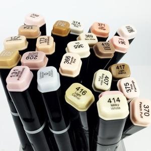 Image 4 - قلم تحديد احترافي لرسم اللوحات الفنية على شكل فرشاة ناعمة برأسين فاين كلور EF102