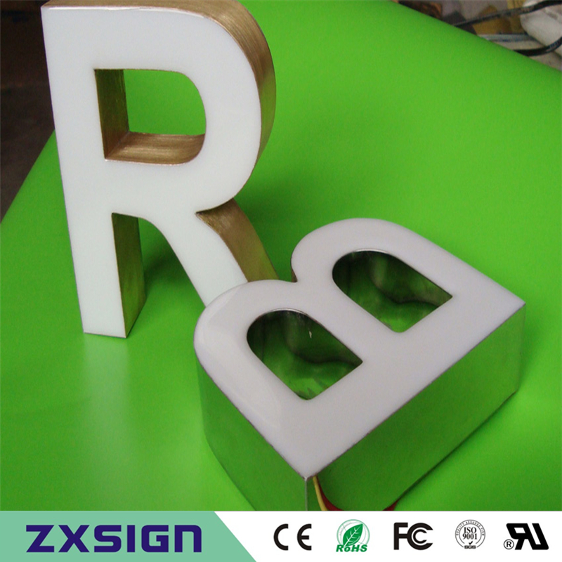 Outdoor Waterproof Factory Price 3d Led Light Epoxy Resin Coffee Shop Sign, Shop Name Signage, Company Logo Signs