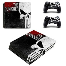 The Punisher Skull PS4 Pro Skin Sticker For PlayStation 4 Console and 2 Controllers PS4 Pro Skin Stickers Decal Vinyl