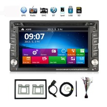 In Dash Car DVD Player Double 2 DIN 6.2″ for NISSAN TIIDA QASHQAI SUNNY 350Z PC CD Radio Stereo Video In Car Multimedia Player