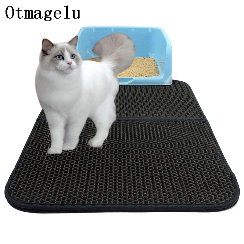 Pets Dog Cat Litter Mat Double Layer EVA Waterproof Cat Catcher Catch Blanket Trapper Pad Smooth