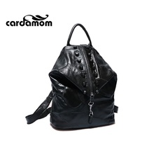 Кардамон Мода кожаный рюкзак женские сумки натуральной кожи сумка Лоскутная кляп