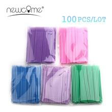 Wholesale 100pcs/lot Durable Micro Disposable Eyelash Extension Individual Applicators Mascara Brush For Women Makeup Tools