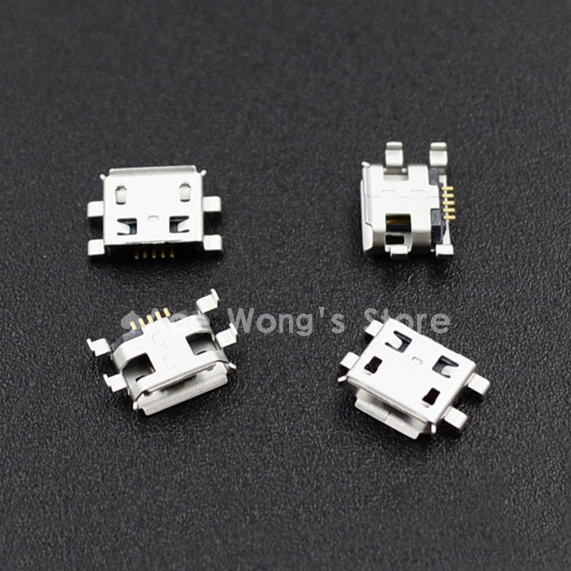 10pcs Micro USB 5pin B type Female Connector For Mobile Phone Micro USB Jack Connector 5 pin Charging Socket