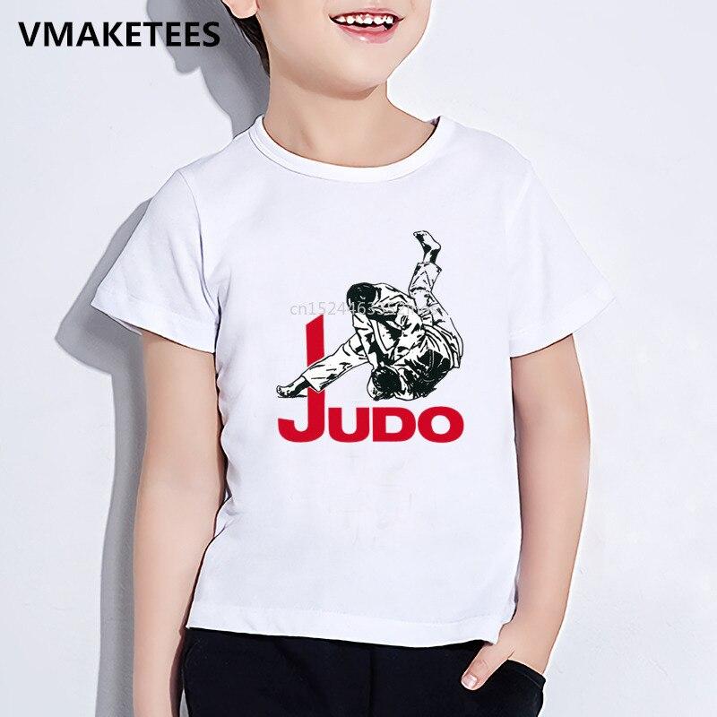 Kids Summer Short Sleeve Girls & Boys T Shirt Children Judo Print Comfortable T-shirt Funny Casual Baby Clothes,HKP402