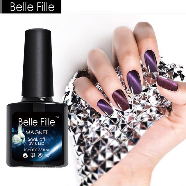 Belle Fille Gel Nail Polish Silver Line Cat Eye Uv Gel Diy Makeup
