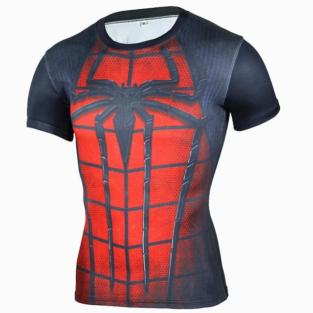 Black Panther Supermen 3D T Shirt Short Sleeve Compression Shirt Men Crossfit Fitness Tops Anime tshirt camiseta rashguard MMA 2