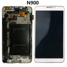цена на For Samsung Galaxy Note 3 N900 N9000q Display LCD Screen Touch Digitizer Sensor with Frame Assembly