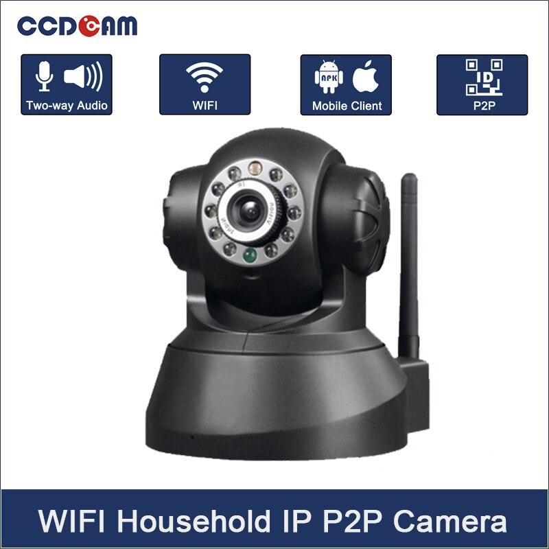 Caméra sans fil mégapixels IP caméra sans fil Vision nocturne 2 voies Audio P2P 720 P caméra IP sans fil 1.0MP caméra wifi intérieure