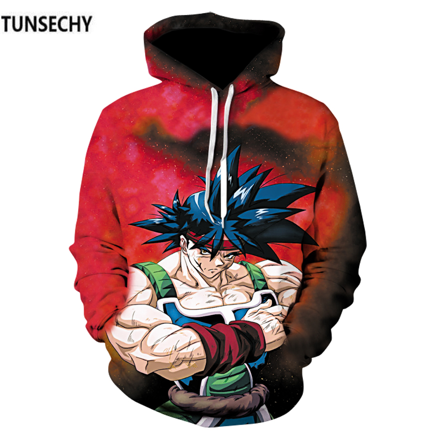 TUNSECHY 2018 Qiu dong season Dragonball super messiah Hoodies & Sweatshirts Sun wukong anime men hoodies Free transportation