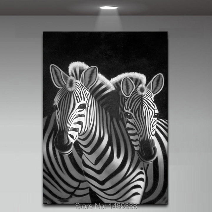 Free Shipping New Product Animal Painting Abstract Zebra Wall Art Decor  Black White Pop Art Prints With Framed A/411 In Painting U0026 Calligraphy From  Home ...