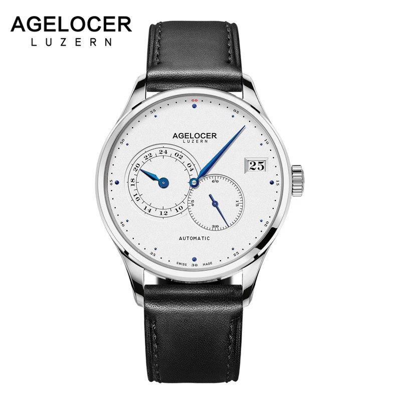 2018 Agelocer Watches Mens Business Automatic Swiss Top Brand Analog Male Watches Mechanical Watch Waterproof Relogio Masculino 2017 agelocer swiss automatic watch men watches top brand luxury women famous genuine leather wristwatch male relogio masculino