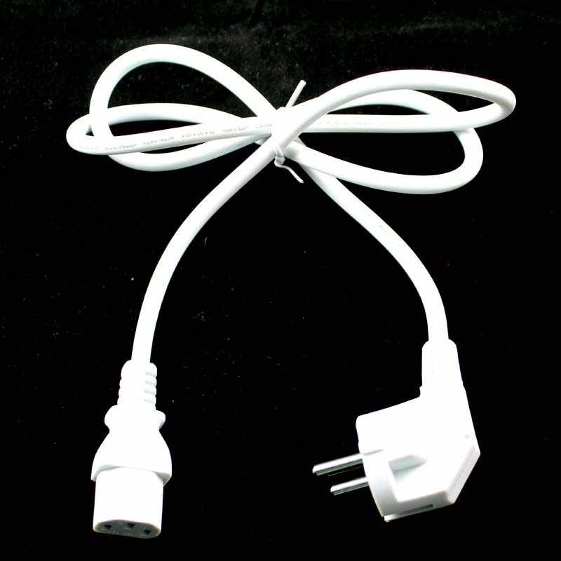 Wholesale EU Plug 1M White 3 Prong AC Power Supply Cable ... on