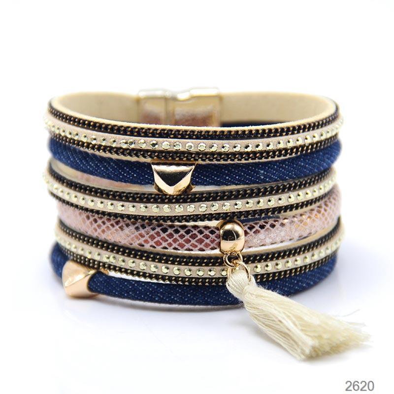 ZG Best Seller Jeans Bracelet Heart Magnetic Bracelet With Tassel Jeans Jewelry