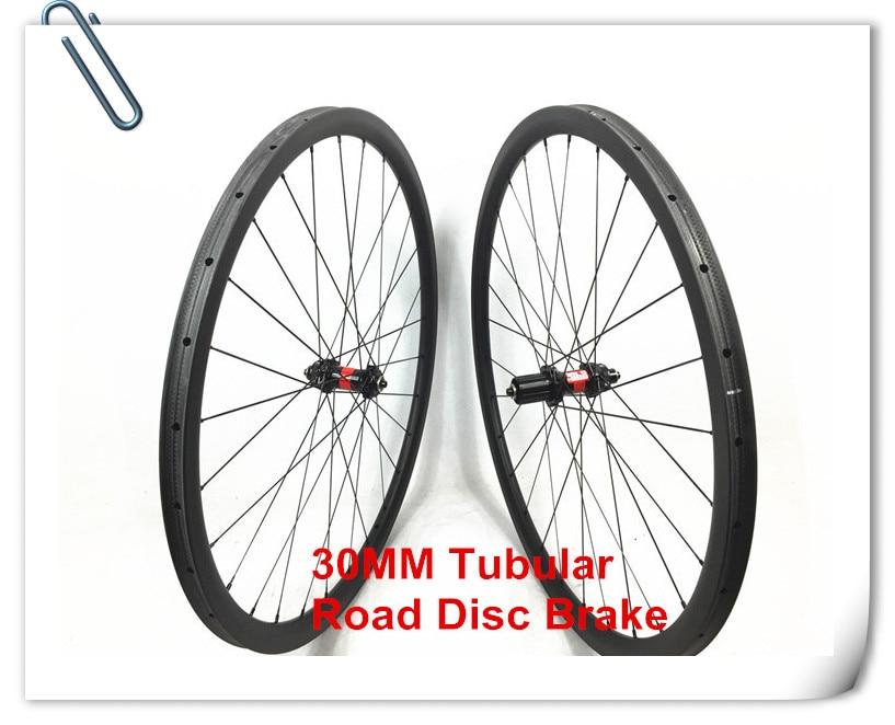 все цены на Farsports FSC30-TM-23 DT240 hub Tubular 30mm 23mm 9 x 135 Axle center lock Disc brake road bike tubular carbon wheel for cycling онлайн