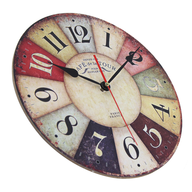 Vintage Wooden Wall Clock 4