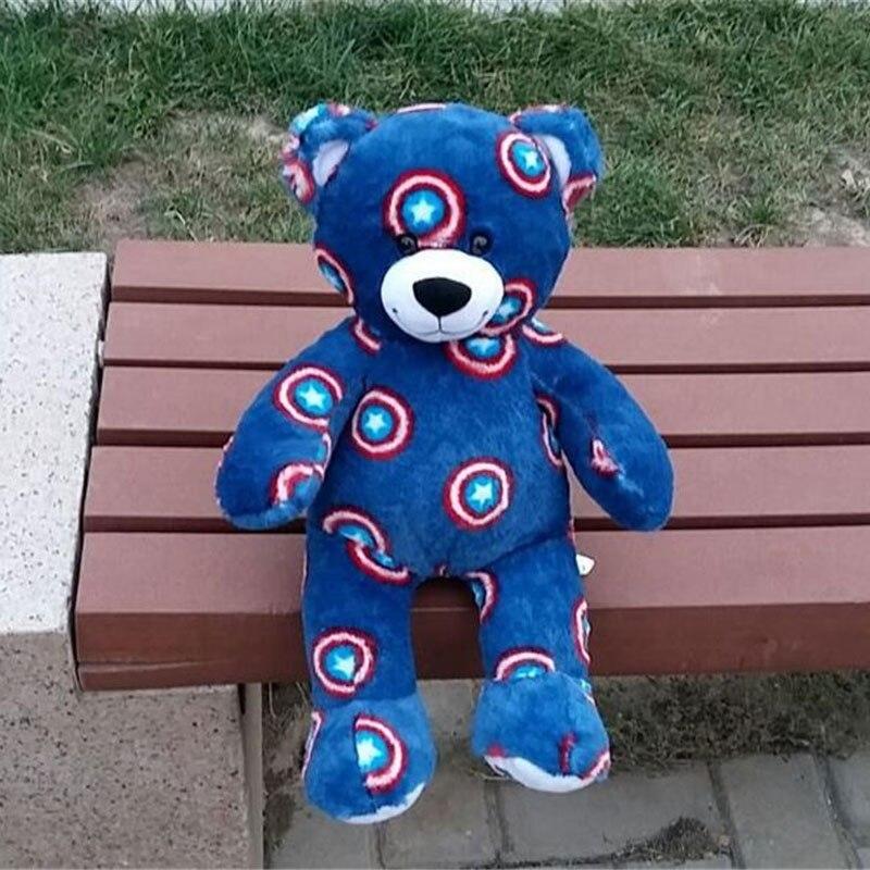 40cm Special Captain America Blue Bear Plush Toy Animal Bear Stuffed Dolls For Kids Gift