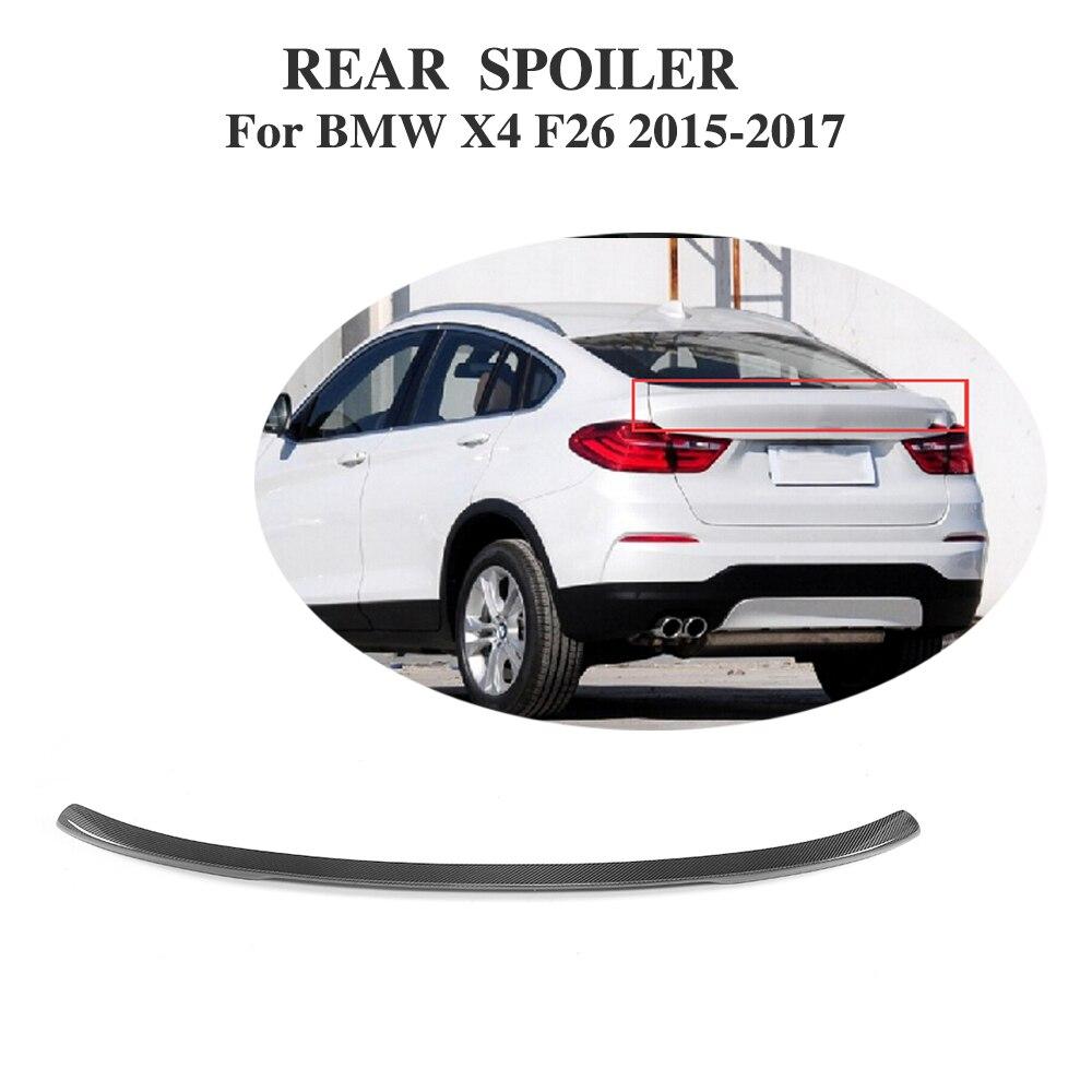 Aileron arrière en Fiber de carbone ailes de fenêtre pour BMW F26 X4 SUV M Sport 2015-2017 style de voiture