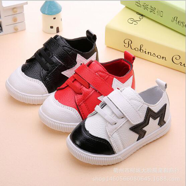 Boys shoes first walkers baby PU leather soft sole shoes Newborn Kids spring autumn casual thin shoes for 1 to 5 years old baby