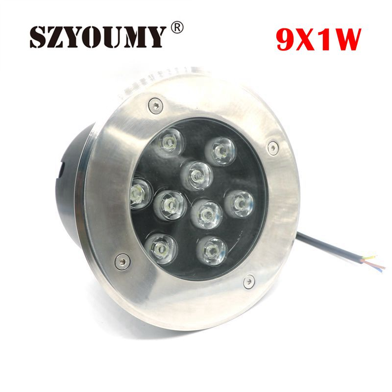 Lights & Lighting Spirited Szyoumy Ip67 Waterproof 9w Ac 85-265v Dc12v Led Outdoor Ground Garden Path Floor Underground Buried Yard Lamp Spot Landscape Delaying Senility Led Lamps