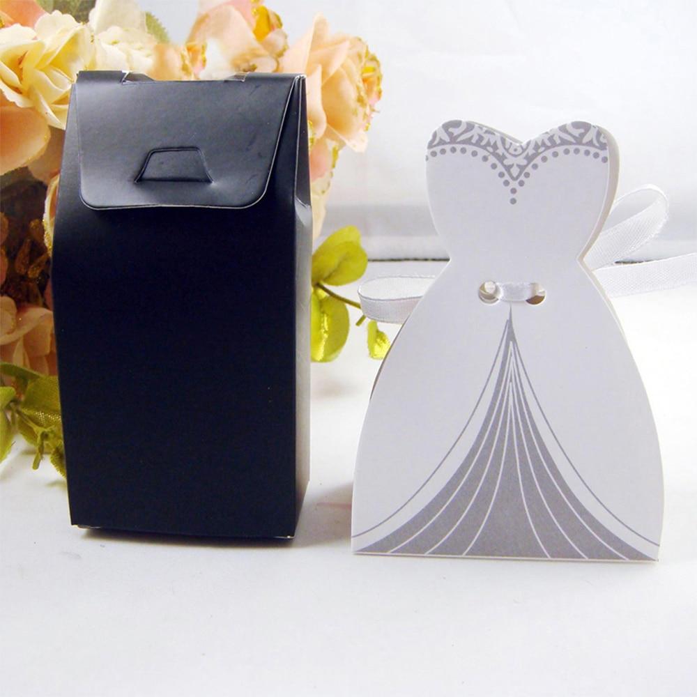 100Pcs Elegant Paper Candy Box Sugar Case Bridal Gift Boxes Groom ...