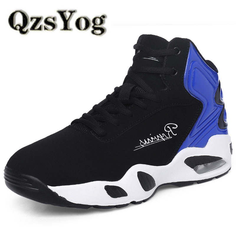 6afd0e5c1555 QzsYog Men Basketball Shoes High Top Air Cushion Sneakers Outdoor Sport  Athletic Training Basket Hombre Ankle
