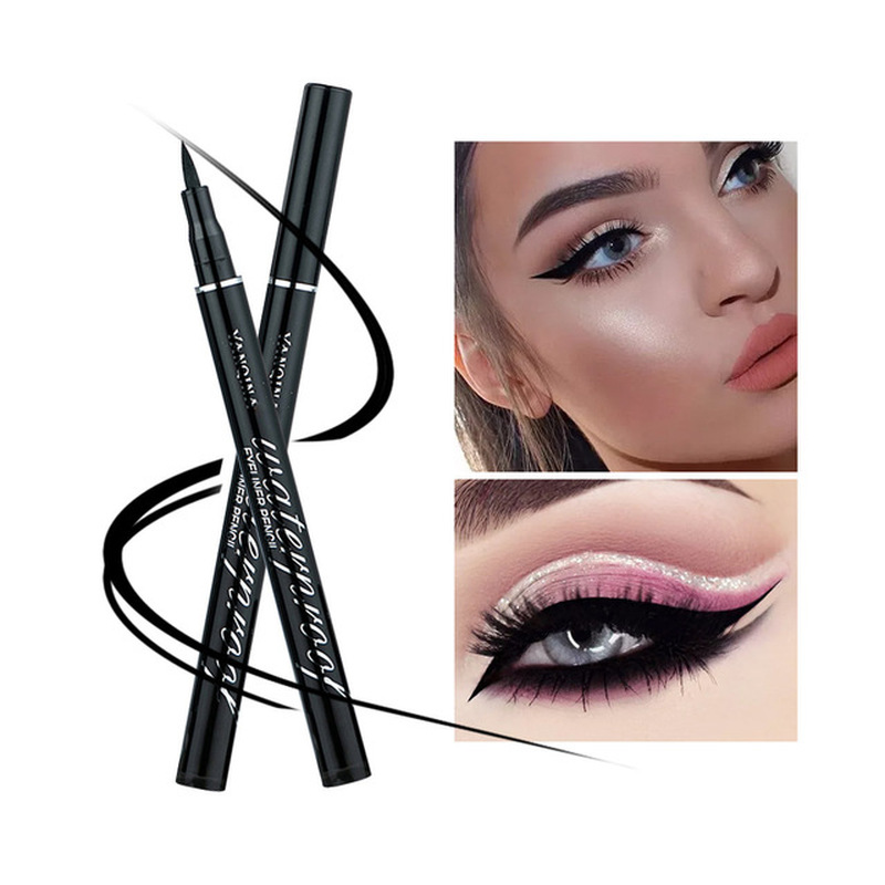 Long Lasting Cool Black Color Eyeliner Pencil  Waterproof  Eye Shadow Makeup Liquid Pen Natural Shimmer Eye Liners Cosmetic