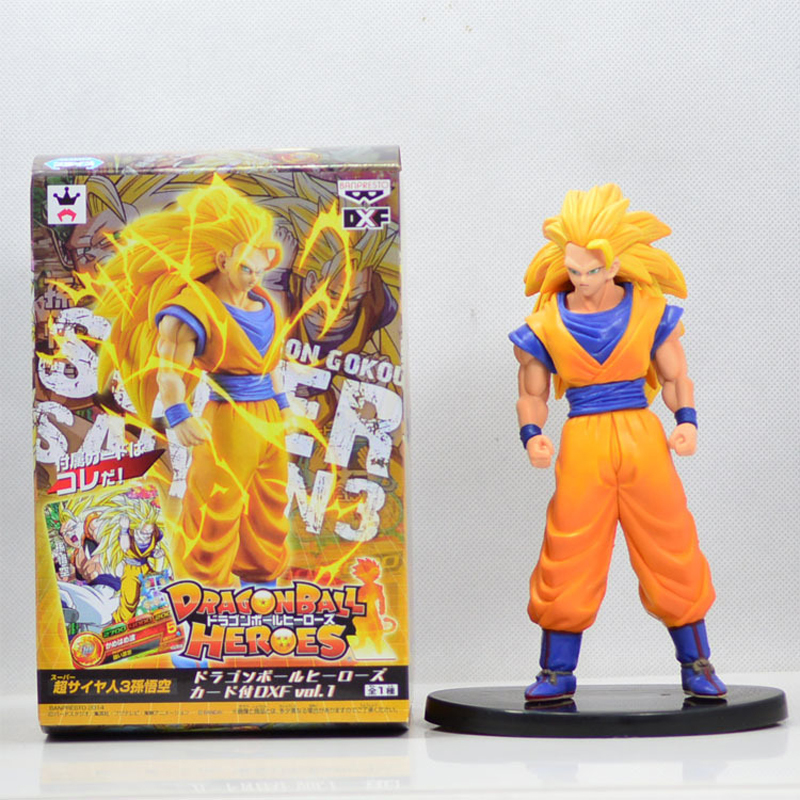 Anime Dragon Ball Figure 18cm Dragon Ball Z Super Saiyan 3 Son Goku PVC Action Figures Toys Collectible Model Toy With Box free shipping super big size 12 super mario with star action figure display collection model toy