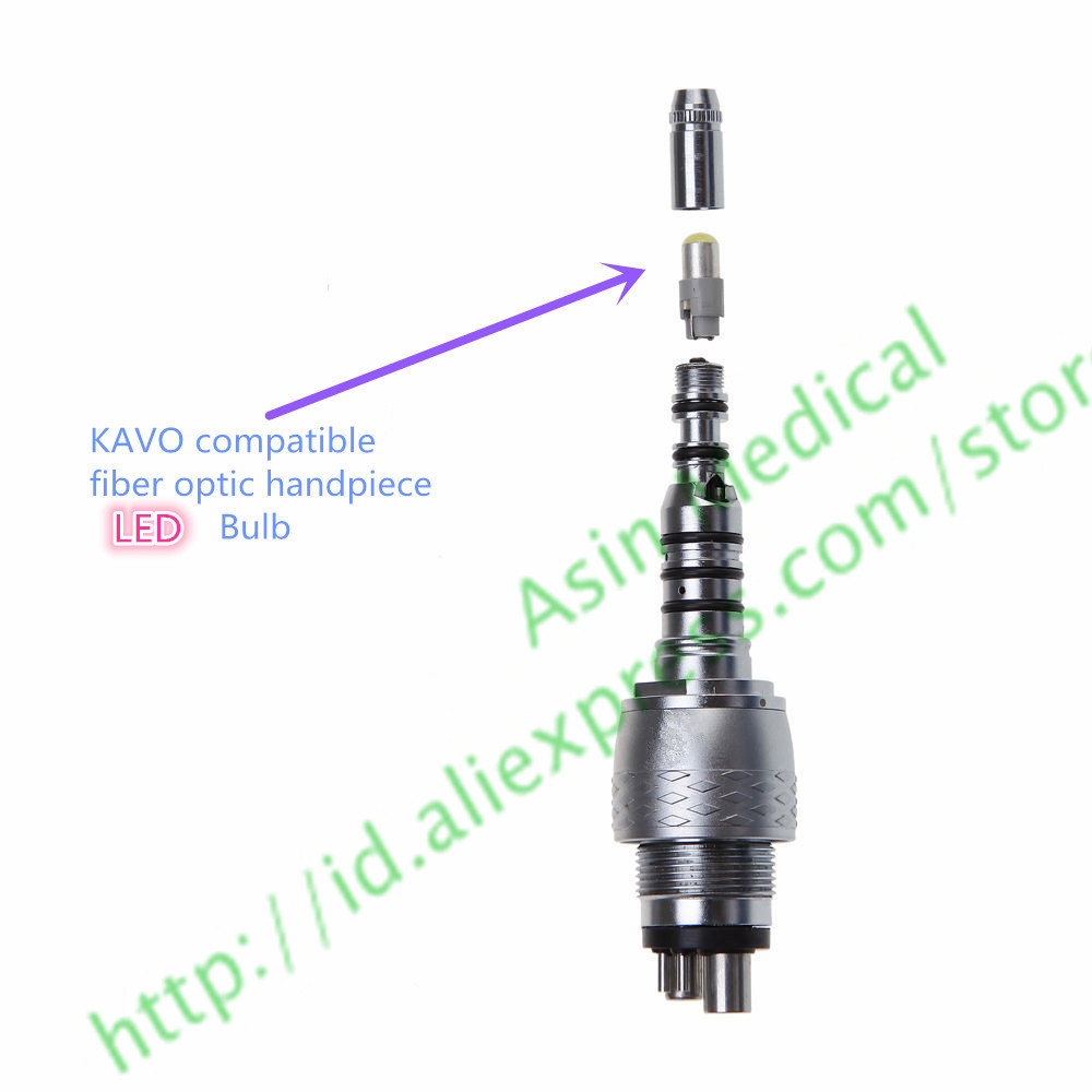 5pcs Dental Fiber Optic Handpiece Lamp LED Bulb Compatible With Kavo Mutiflex Coupling