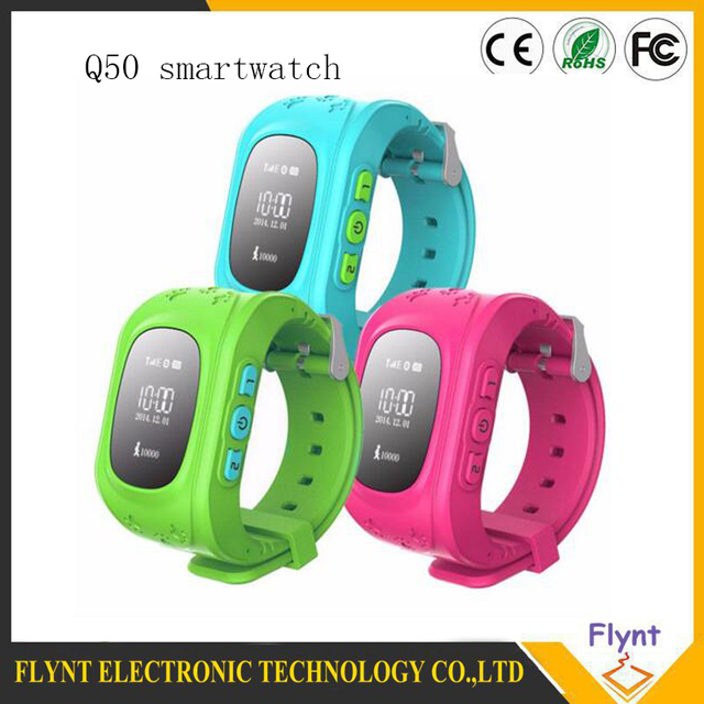 2016 Kid Safe GPS Relógio Inteligente relógio de Pulso Chamada SOS Localizador Monitor de localizador Rastreador para o Miúdo Criança Anti Perdido Bebê Q50 Q60