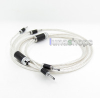 2.5m ACROLINK FS-9710(AG)(Cu) OCC / OCC Silver Plated Speaker Dual Banana Plug Hifi Audio Cable