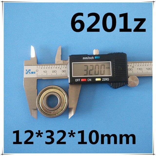 10 pièces 6201 6201Z 6201ZZ 6201-2Z 12x32x10 MOCHU blindé roulements à billes à une rangée de roulements de haute qualité