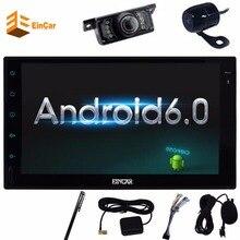 Android 6.0 автомобильный радиоприемник стерео 2 дин планшетный ПК Мультимедиа головного устройства gps-навигации/wif с передней и заднего вида Камера