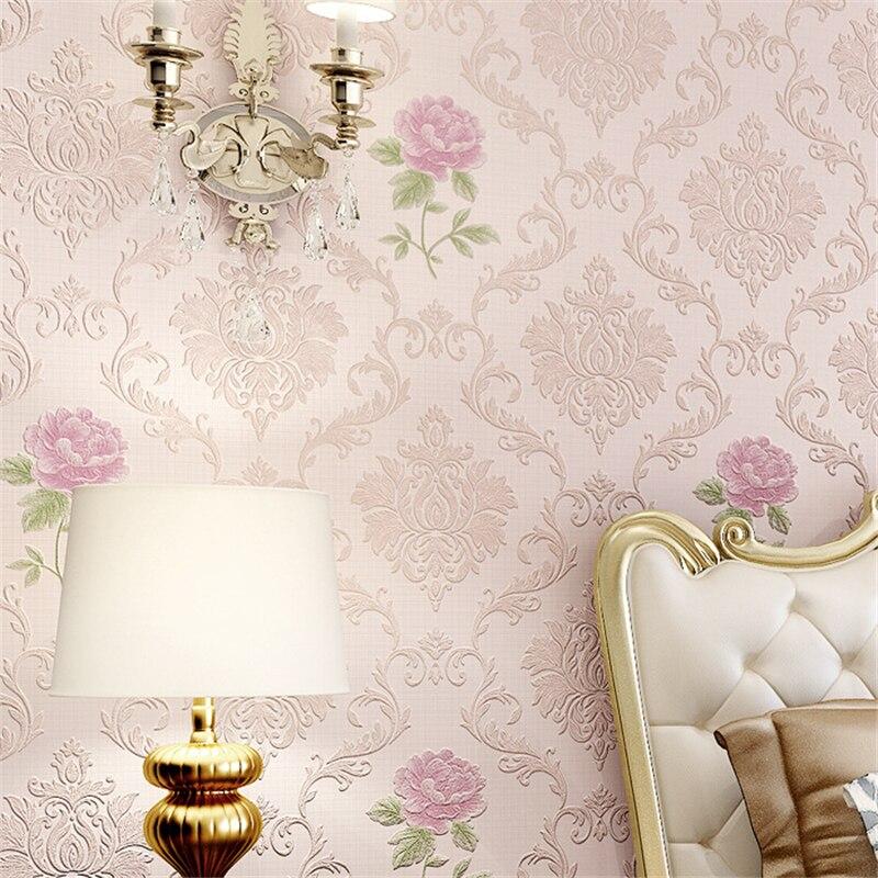 Beibehang intissé 3D précision pression Continental papier peint chaud chambre salon TV retour sur le mur de la boutique King