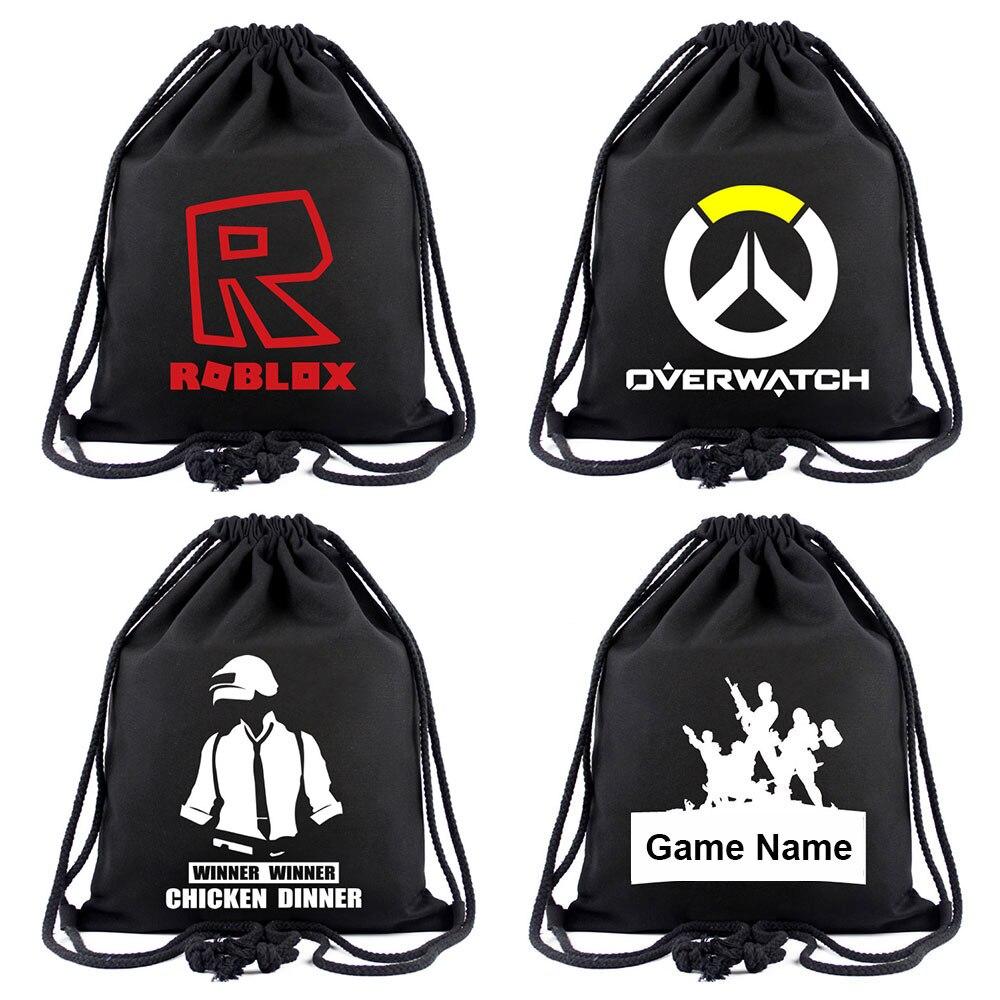 RPG OW batalla ROBLOX caliente jugador juegos mujeres Bagpack adolescentes mochilas bolso de escuela de la lona cadena cordón bolsa