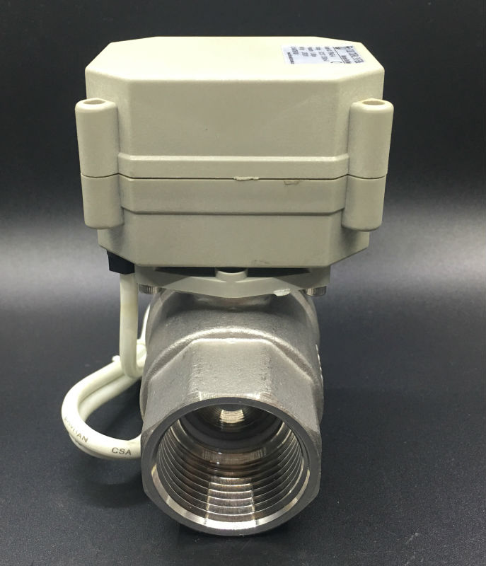 Brand Electric Shut Off Valve TF25-S2-A 2-Way BSP/NPT 1'' DN25 Stainless Steel Water Valve Lead Free DC9V-DC35V 3/7 Wires bsp npt 1 pvc dn25 electric shut off valve tf25 p2 c dc12v cr303 wiring 10nm on off 15 sec metal gear for water control