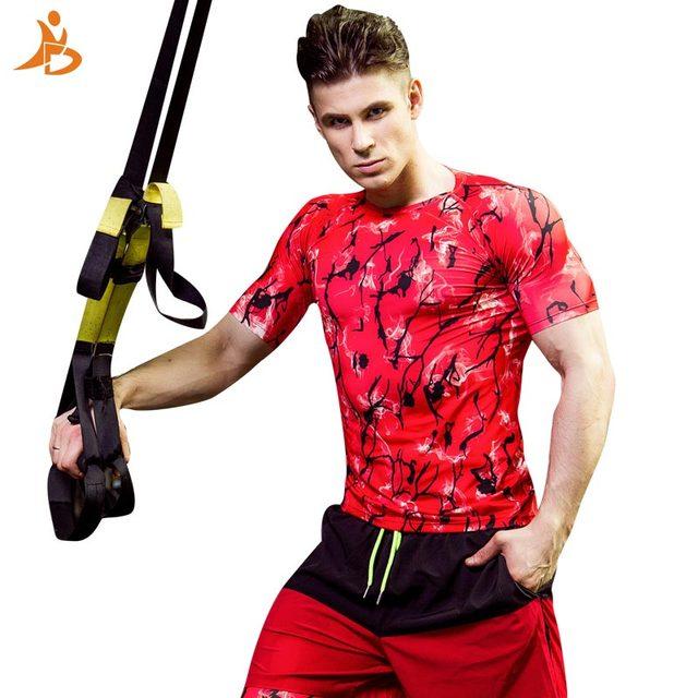 6cf0a26ef8 YD Printing Sport T-shirt Men Outdoor Leisure Sportswear Quick Dry Football  T-Shirts Men's Fitness Tights Running Shirt Rashgard