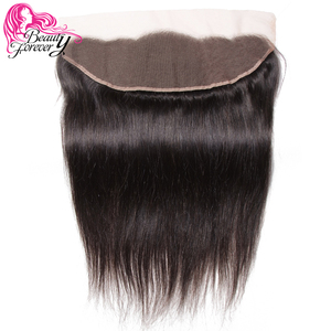 Image 2 - Beauty Forever 13*4 Lace Frontal Straight Brazilian Hair Free Part Ear to Ear 100% Remy Human Hair Lace Frontal