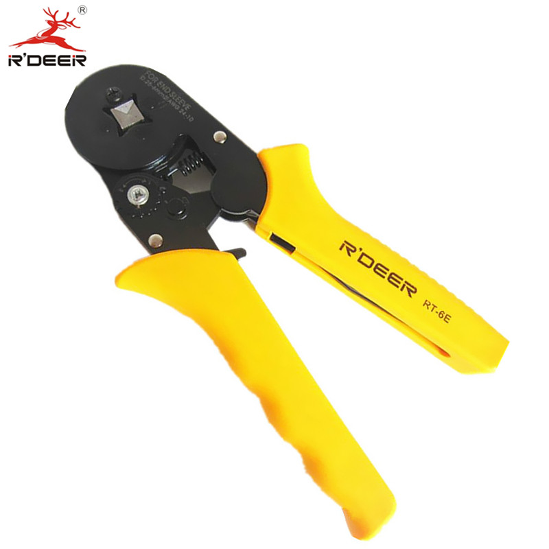 RDEER Crimping Pliers Adjustable Crimping Tool Press Cutting Plier Terminal Wire Stripper Electrician Multifunctional Hand Tools  цены