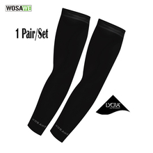 WOSAWE Cycling Armwarmers UV Cover Protection Golf Sleeves Cooling Arm Sleeves 1 Pair Athletic Sport Skins Arm Sun Protective