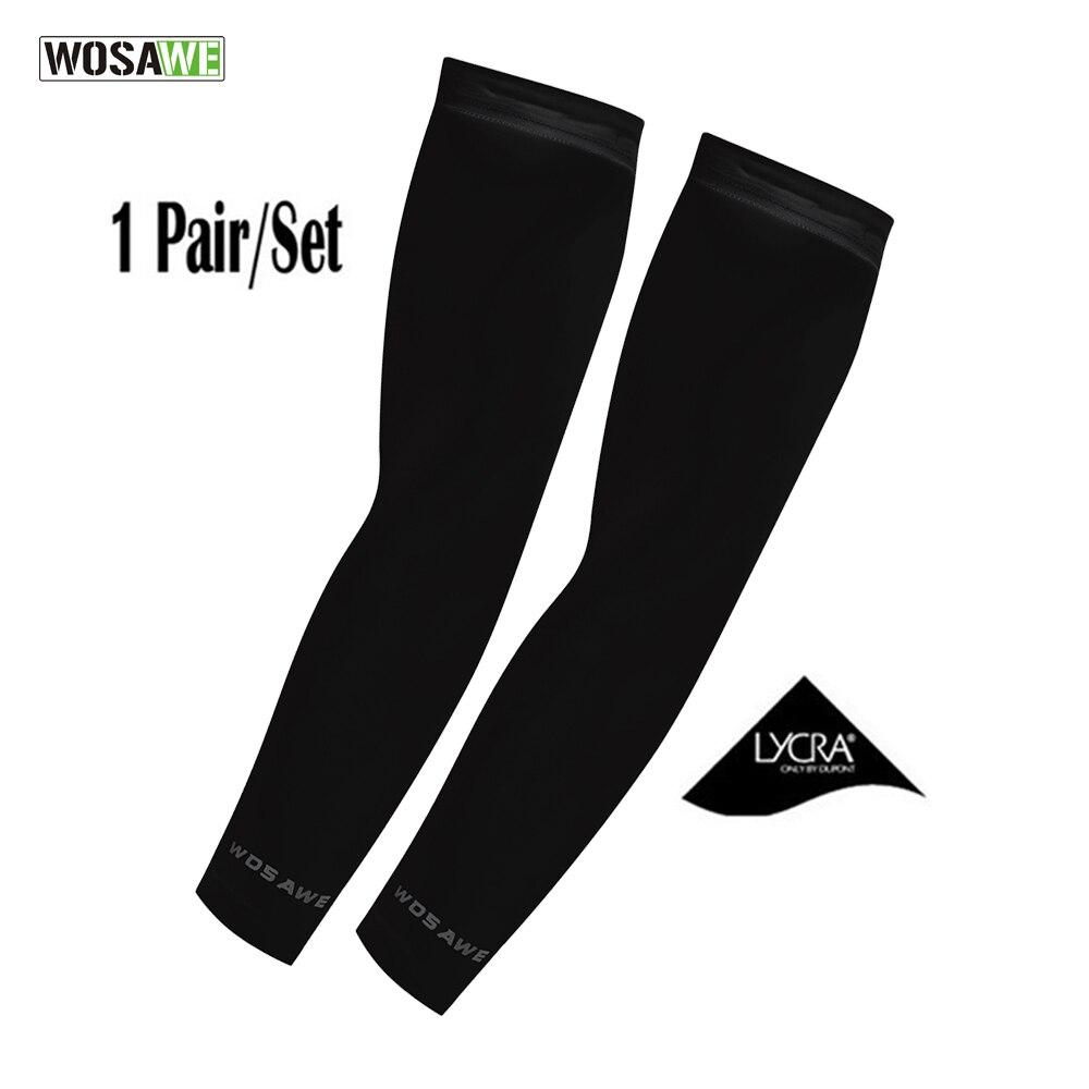 WOSAWE Cyclisme Manchettes UV Couverture Protection Golf Manches De Refroidissement Bras Manches 1 paire Athletic Skins Sport Bras Soleil De Protection