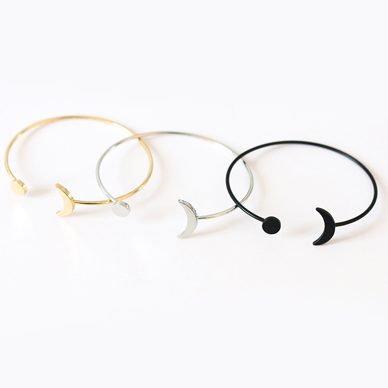 2018 New Alloy Vintage Simple Sun Moon Opening Adjustable Bracelet Birthday Gift Garment Accessories For Women