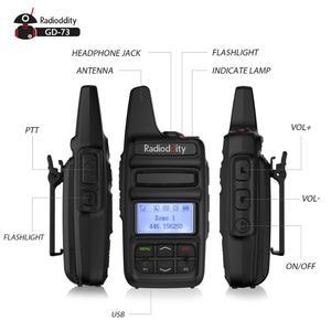 Image 2 - Radioddity GD 73 A/E UHF/PMR מיני DMR SMS חמה שימוש מותאם אישית מפתח IP54 USB תכנית & תשלום 2600mAh 2W 0.5W שני בדרך כיס רדיו