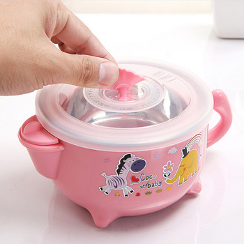 2019 New Food Warming Bowl Water Injection Insulation Bowl Baby Dishes Dinnerware Tableware Food Container