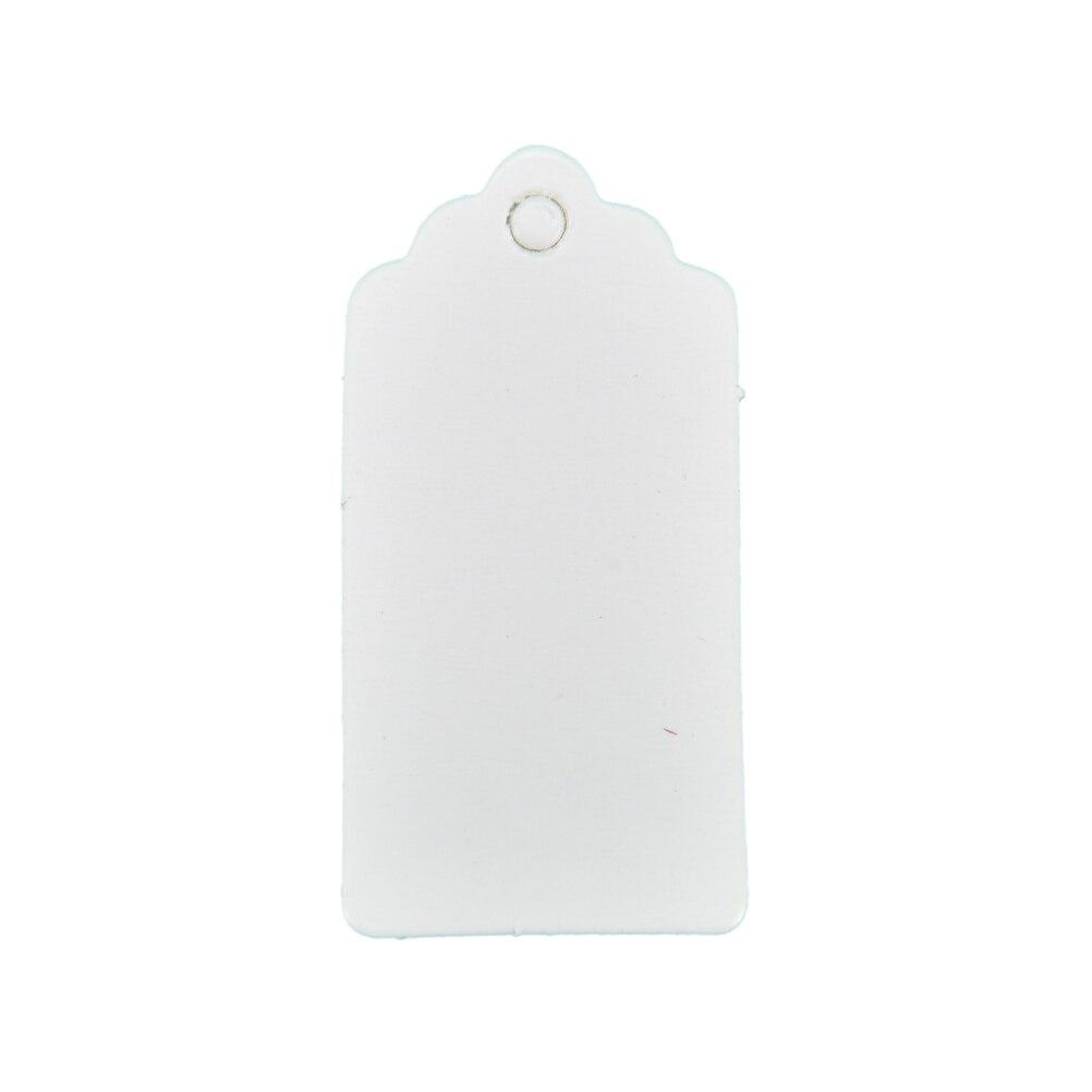 100 шт 4x2 см Крафт ценники для одежды висят DIY Подарок Рождественские принадлежности для украшения свадебной вечеринки прямоугольная бумажная этикетка - Цвет: Белый